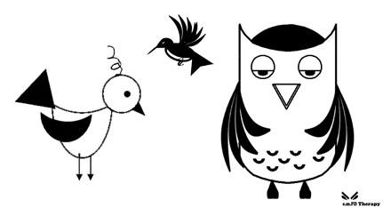 Lark, Owl, Hummingbird