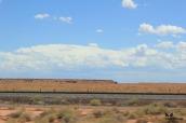 desert rail clouds