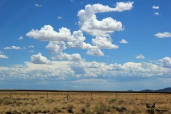 open field clouds