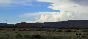 red rock clouds