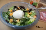 Add egg to salad