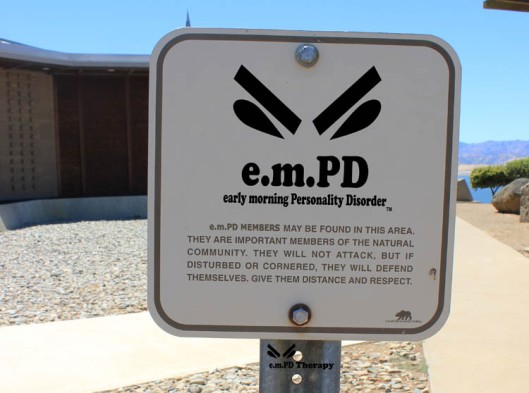 e.m.PD Warning Sign