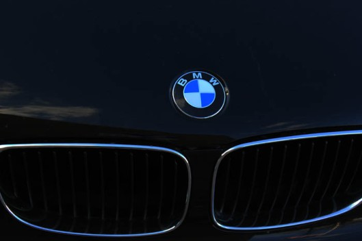 BMW logo and front end