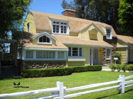 One of the houses on Wisteria Lane